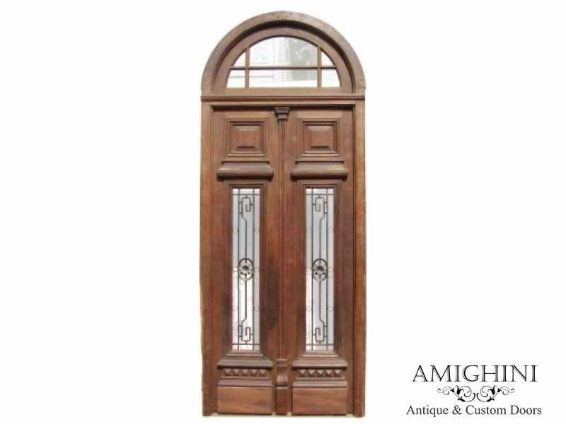 Antique Arched Double Front Door New Jersey Double Front Doors Wrought Iron Front Door