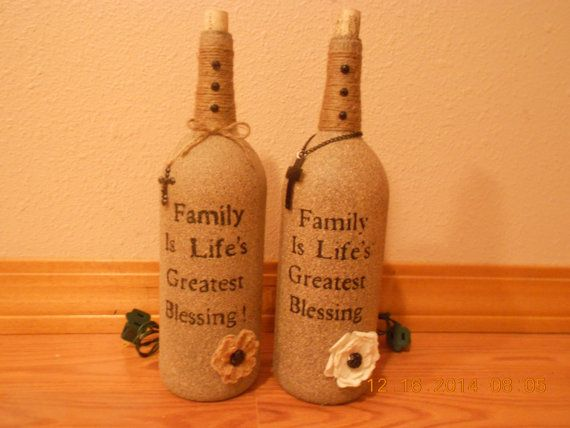 Family is Life's Greatest Blessing Wine by AfterAGlassCreations