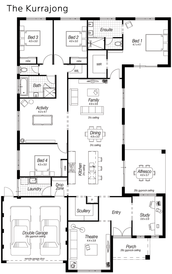 U Shaped Floor Plans