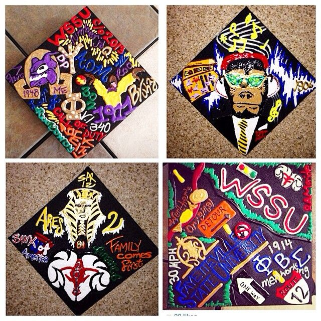 2D grad cap ideas for the guys // follow us ...