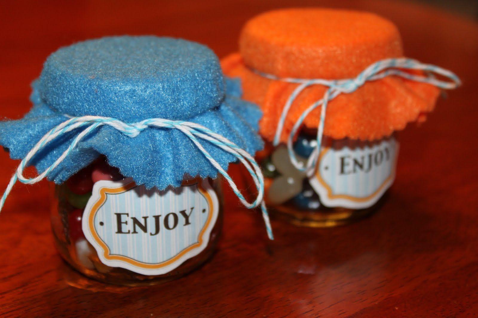 baby food jar favors. Baby food jars, Baby jar crafts
