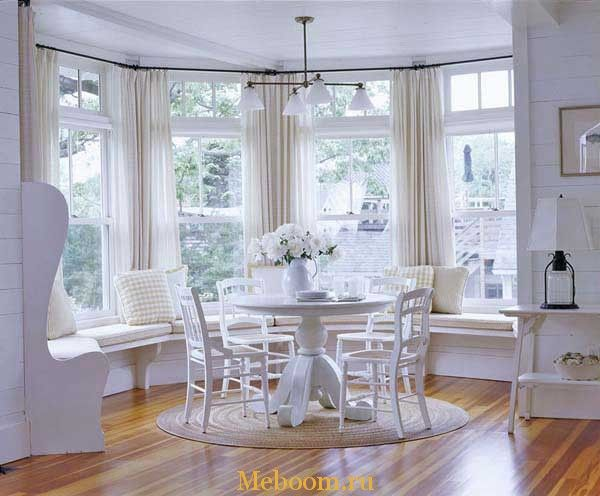 Зонастоловойуэркера 600×496 Пикс  Эркер  Pinterest  Bb Entrancing Window Seat In Dining Room Design Ideas