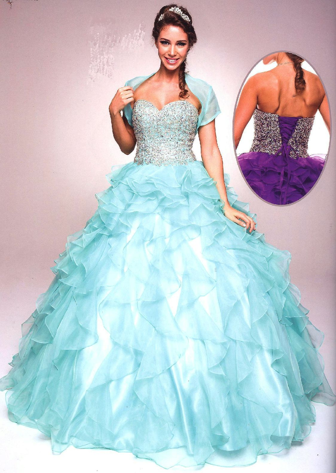 Quinceanera dresses ball gownsucbrueucbrueruffle ready full length