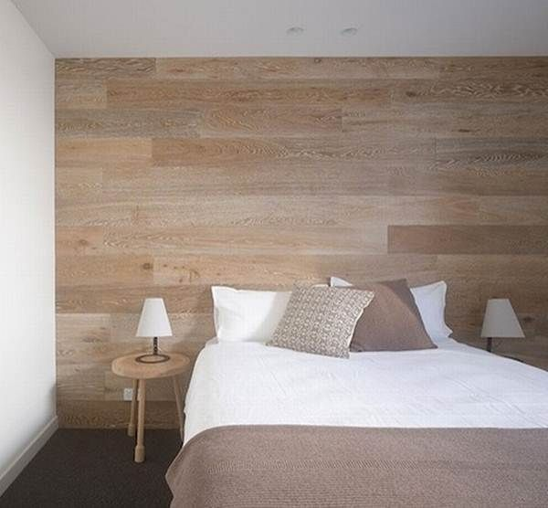 Alternativas para cabeceros de cama Arquitectura Pinterest - pared de madera
