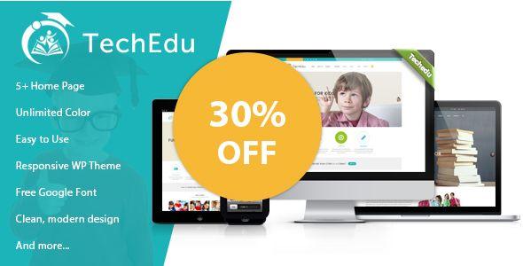 TechEdu \u2013 Education WordPress Theme Wordpress, Website themes and