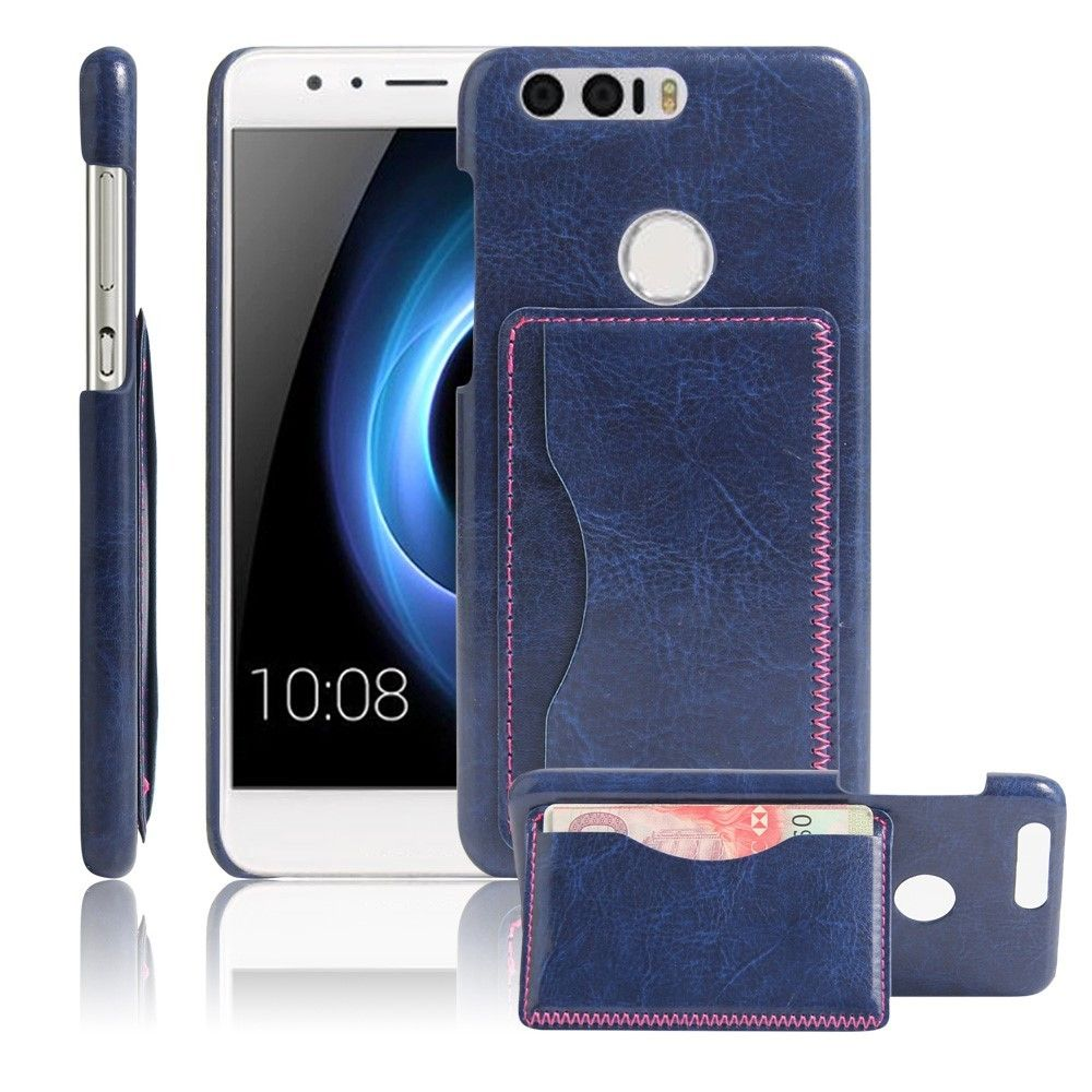 Coque Huawei Honor Effet Cuir Porte Carte Bleu Nuit Huawei - Porte carte bleue