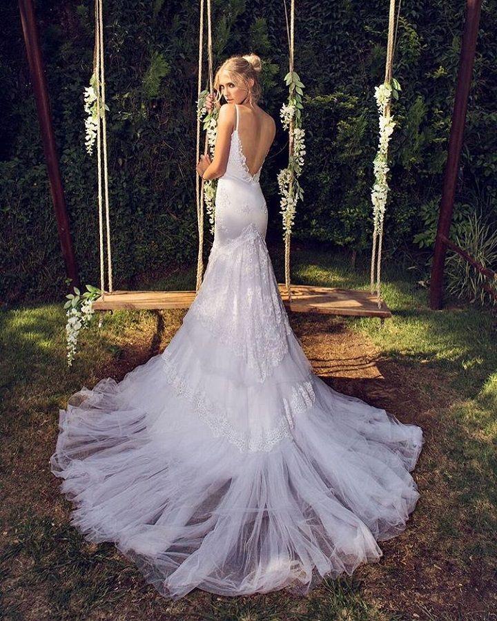Elegant, sophisticated backless Riki Dalal Wedding Dress