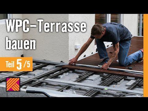 wpc dielen verlegen terrasse bauen kapitel 5 hornbach meisterschmiede ohne unterkonstruktion