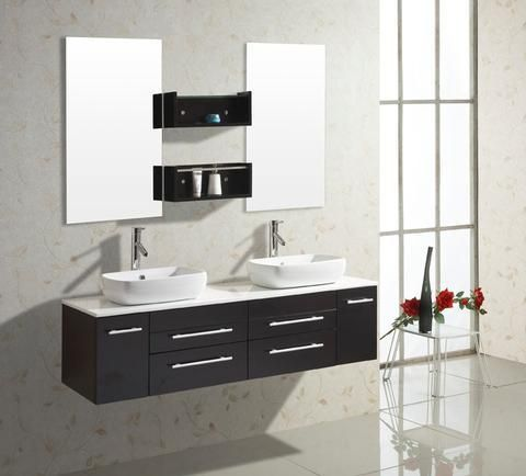 Tuesday (double) 59-Inch Contemporary Bathroom Vanity Set Home on