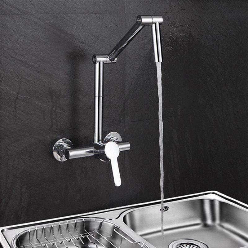 Wall Mount Kitchen Tap Chrome Swing Arm Kitchen Faucet Singlemountkitchenfaucet Wall Mount Kitchen Faucet Wall Faucet Kitchen Wall Design