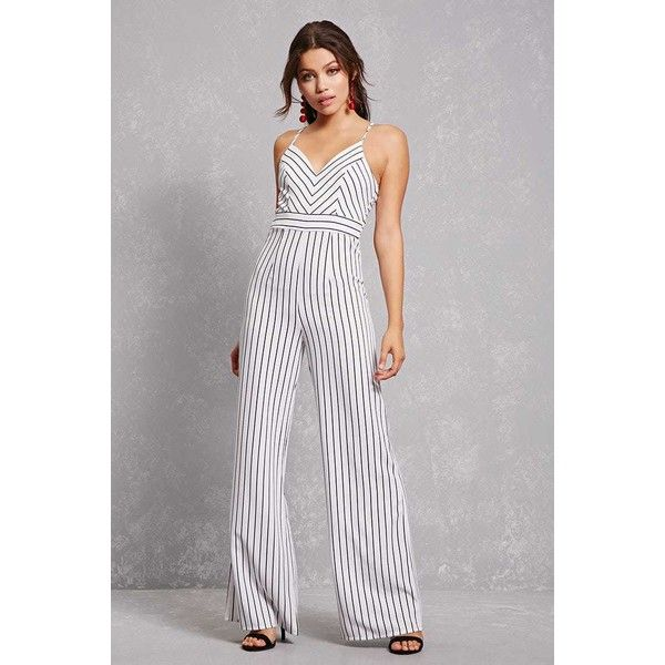 f2c830bee6 Forever21 Striped Cami Jumpsuit ( 30) ❤ liked on Polyvore featuring  jumpsuits
