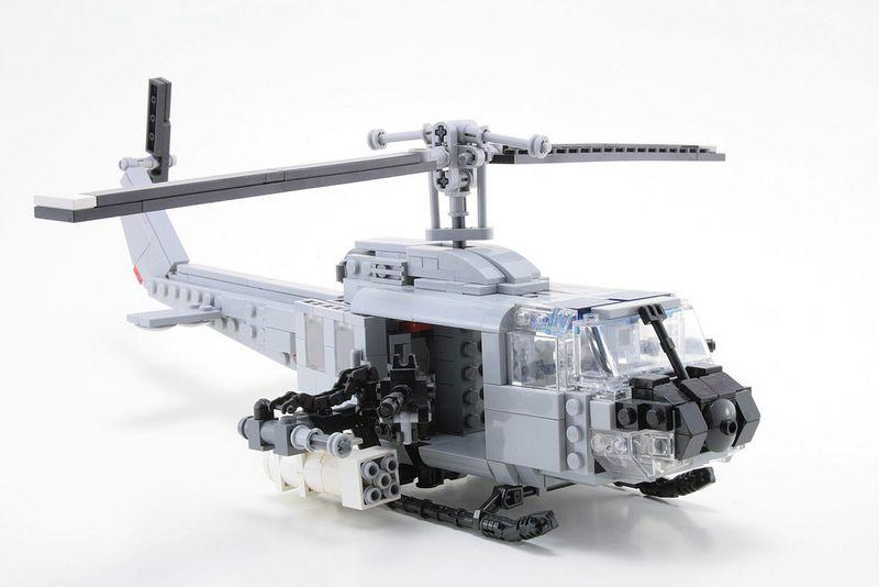 Huey Gunship   Lego, Lego military and Lego plane