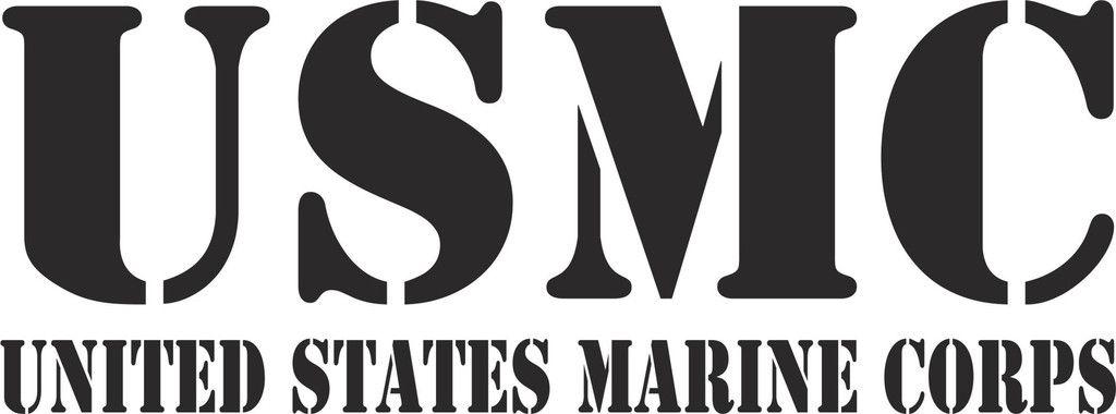 USMC Text Vinyl Decal USMC Texts And Custom Vinyl - Custom vinyl decal text