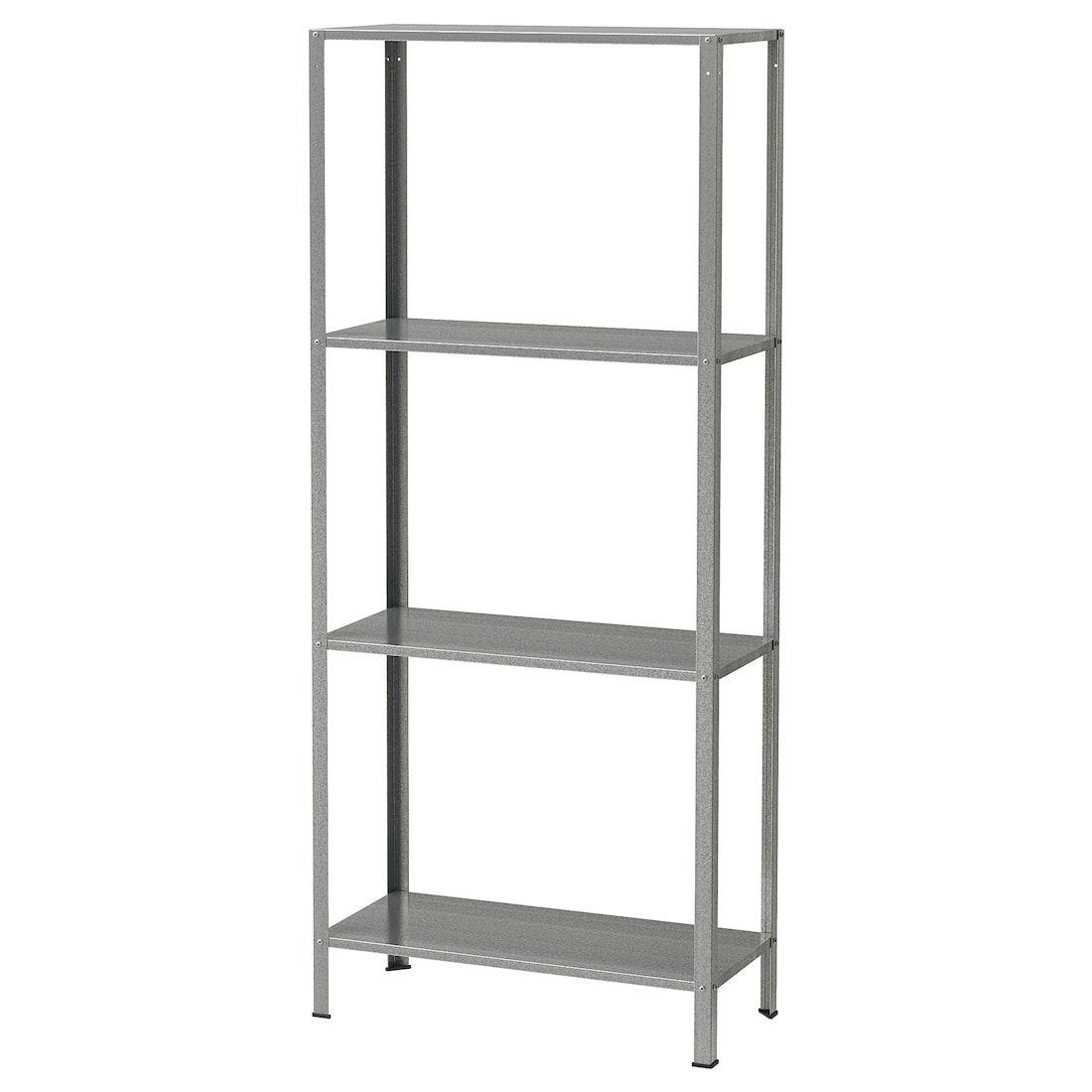 Hyllis Shelf Unit Indoor Outdoor Galvanized Ikea Ikea Shelves Ikea Shelving Unit