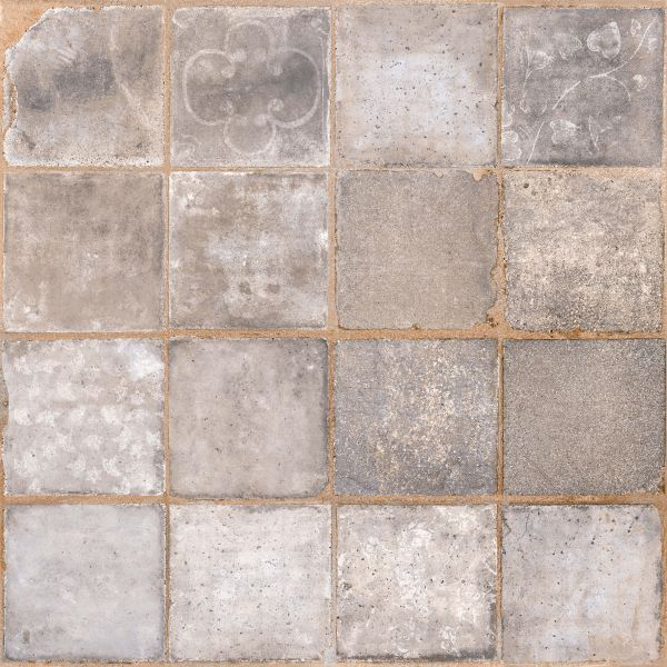 Carrelage Terre Cuite Imitation 10x10 Gris 45x45 Cm Avec Images Carrelage Terre Cuite Carrelage Comptoir Du Cerame