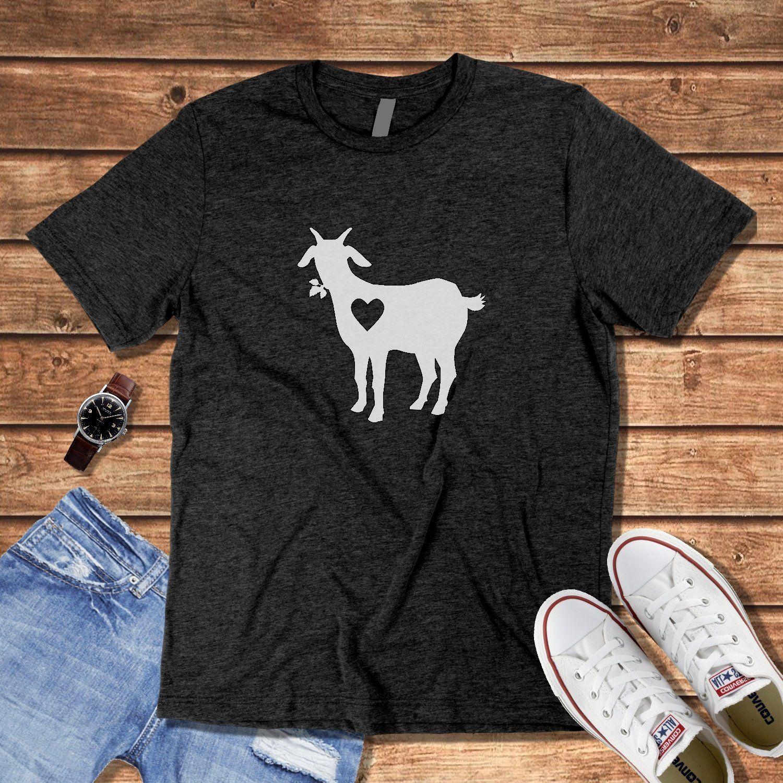 Download Goat Lover Shirt Goats Tshirt Gift Idea Cute Heart Love ...