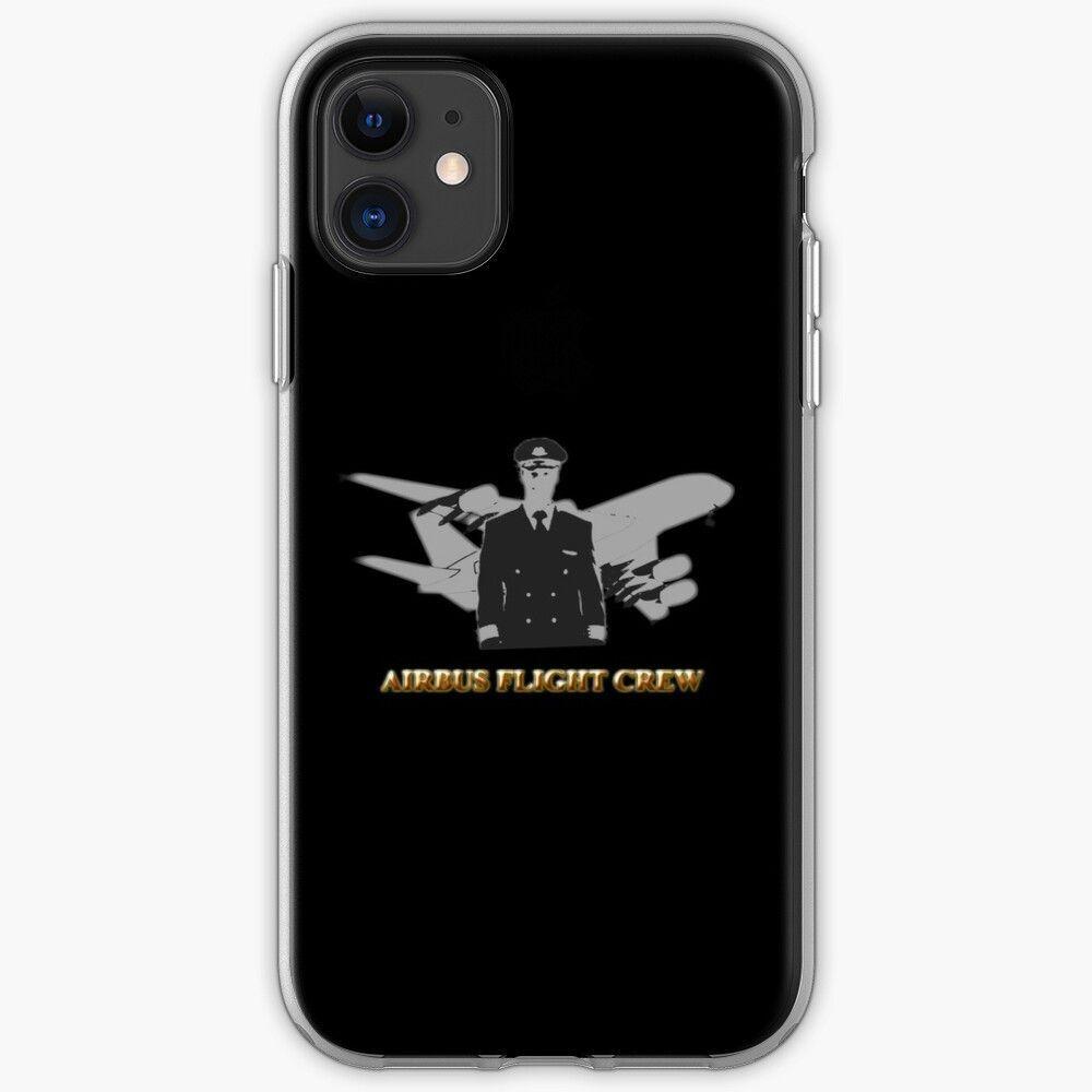 Airbus Flight Crew aviation design black background iPhone Case by ElsaRhea