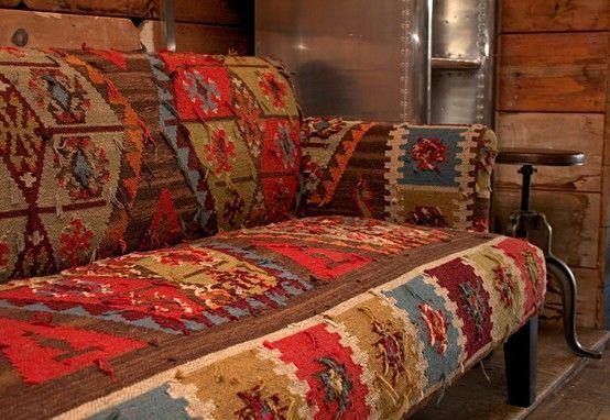 Andrew Martin Kilim Sofa #kilim #spring