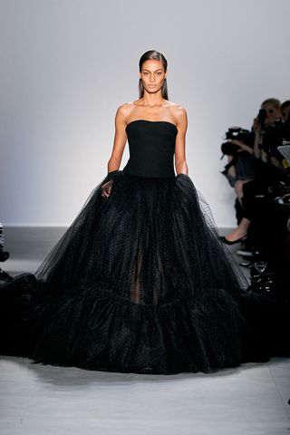 Giambattista valli long black dress