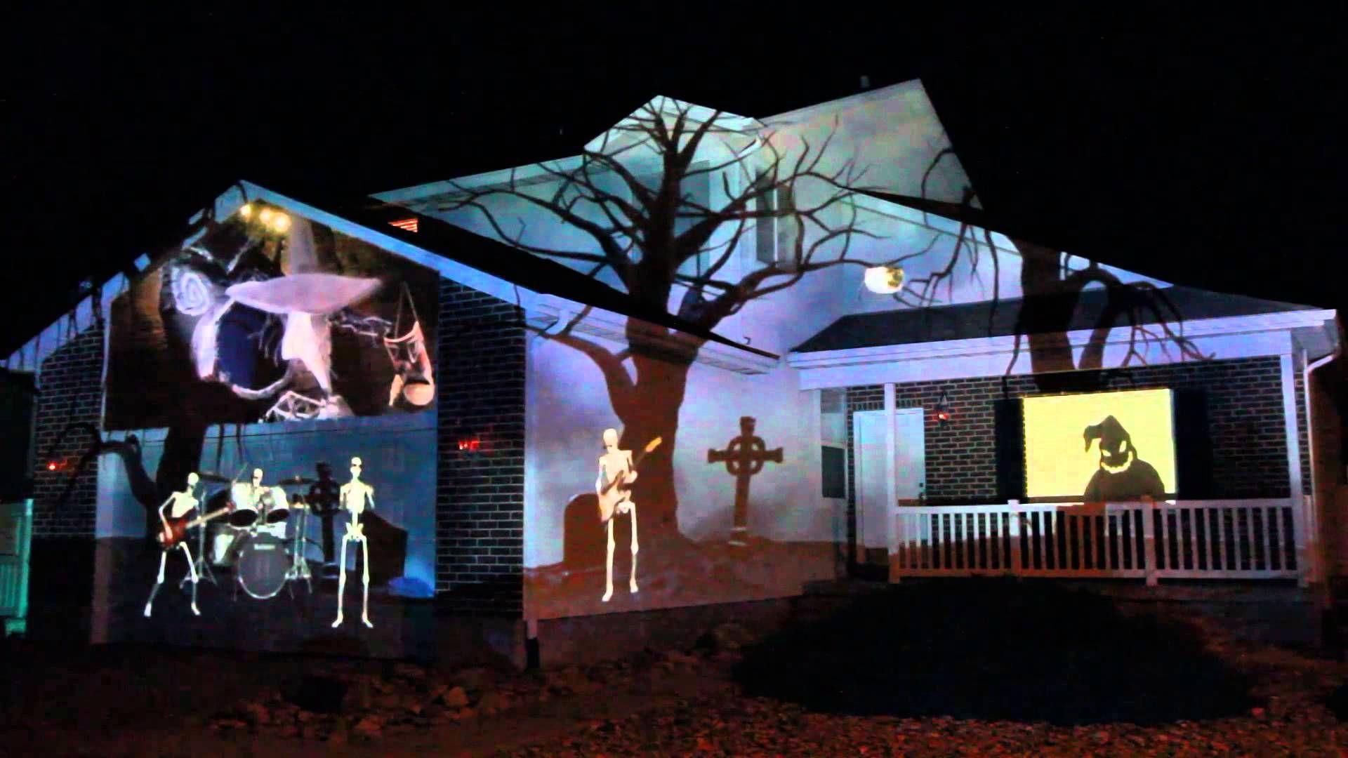 2015 Halloween House Projection Display Live Halloween