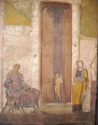 """""""Paris and Helen"""" - from House of Jason at Pompeii - Naples Archaeological Museum"""