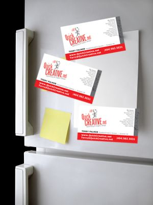 Printed On 350gsm Card One Side Gloss Laminated 1 Side With Magnet