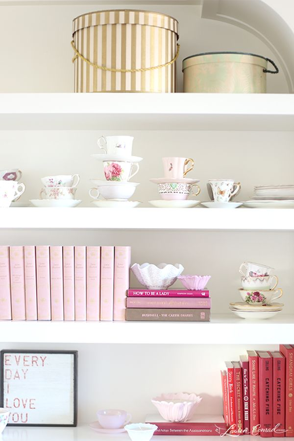 Gorgeous Shelves In Lauren Conradu0027s Home Office