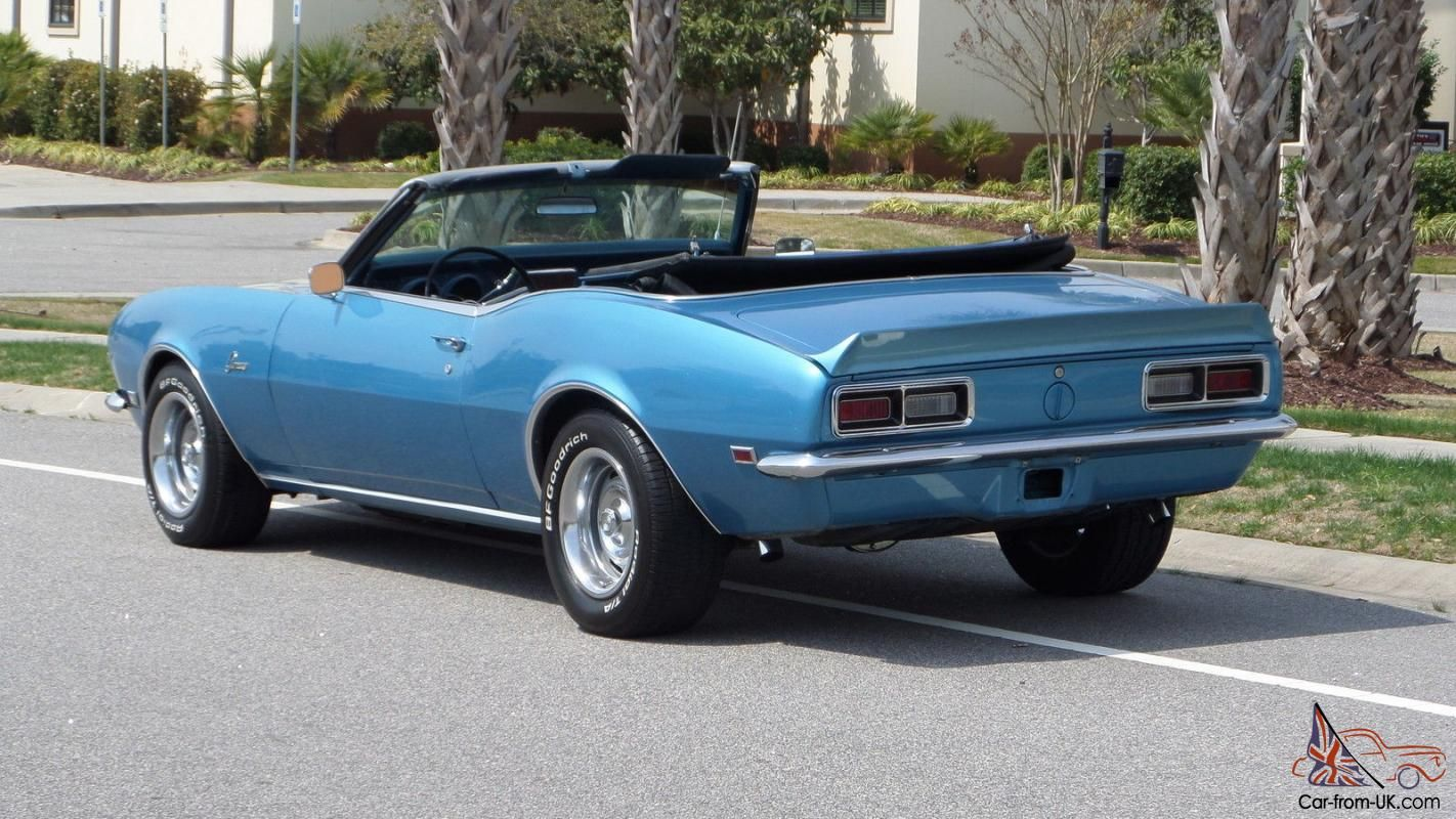1968 Chevrolet Camaro Convertible Automatic 327 Marina Blue ...