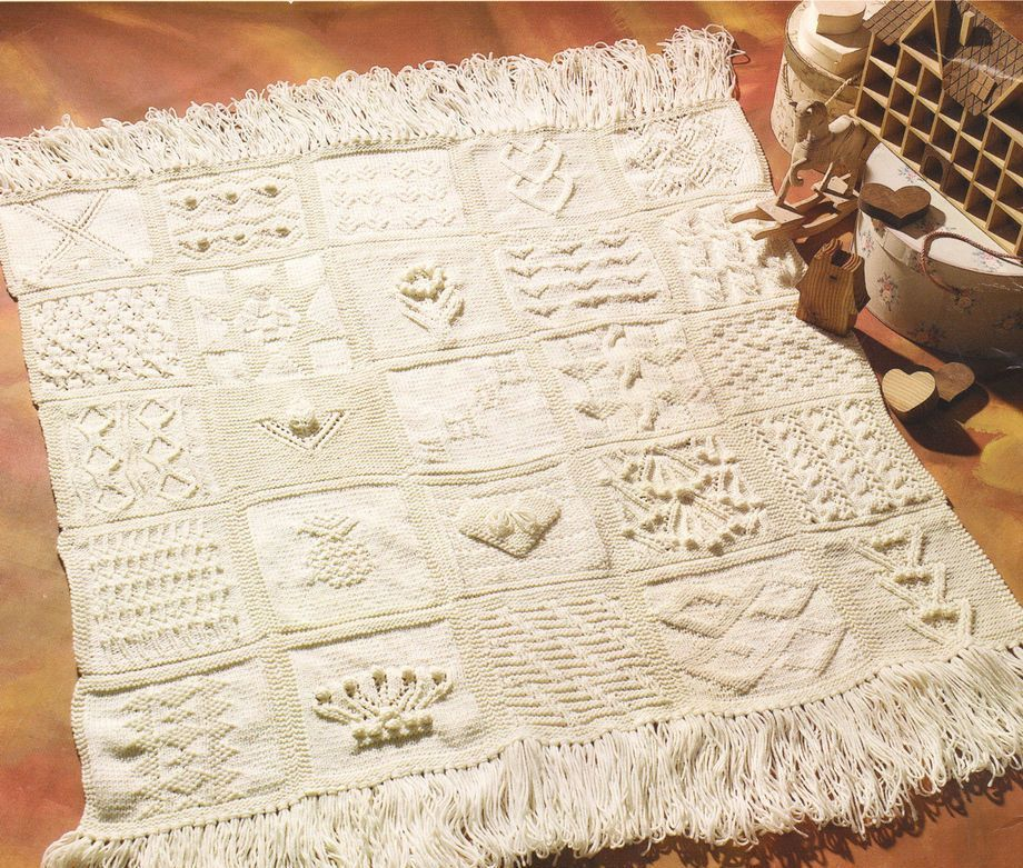 Pdf Sampler Afghan Blanket 25 Different Squares 48 X 48 Aran Wool
