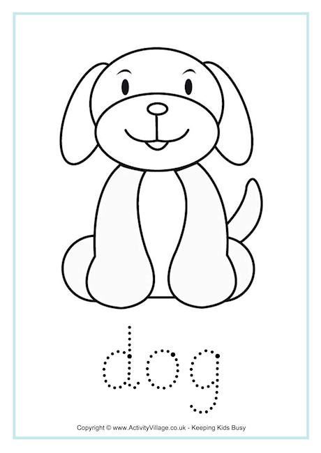 Dog tracing worksheet | Coloring Pages | Pinterest