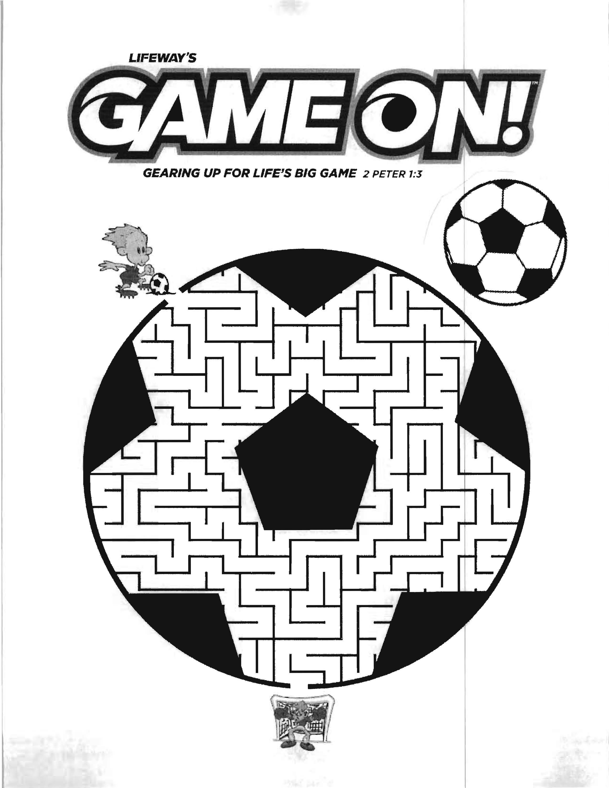 Game On Vbs Coloring Sheet