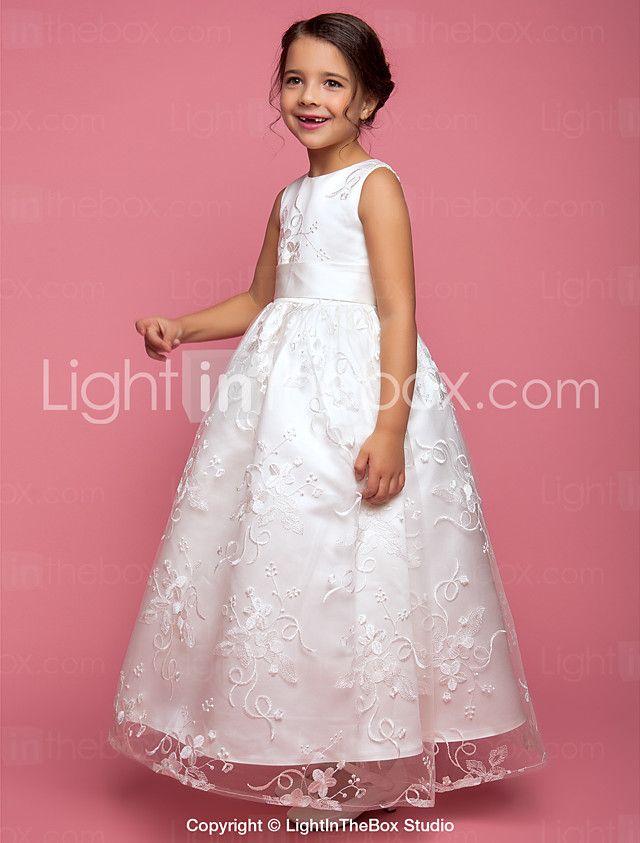 novia lanting ® una línea / vestido de niña de las flores palabra de ...