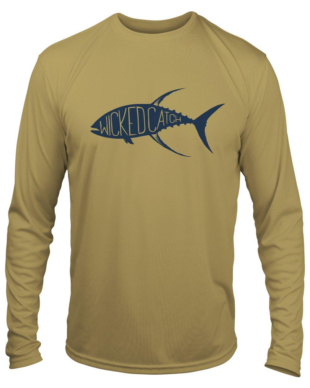 Microfiber Long Sleeve UPF 50 Redfish Fishing Tailing Redfish T-Shirt
