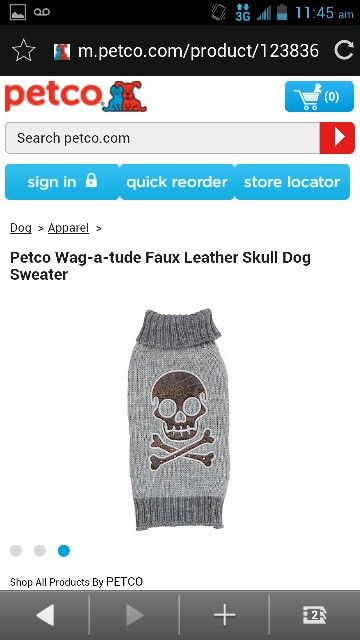 Petco Wag A Tude Faux Leather Skull Dog Sweater Dog Sweater Sweater Shop Petco