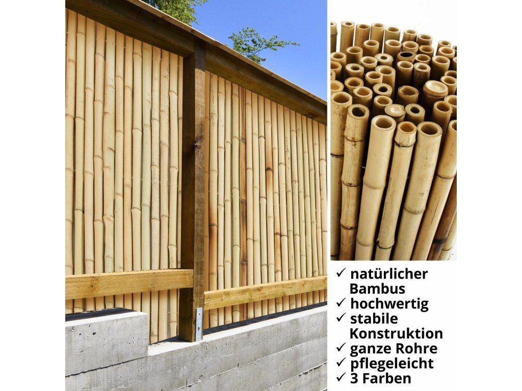 Bambus Sichtschutzzaun Natur 3 Grossen Volle Bambusrohre