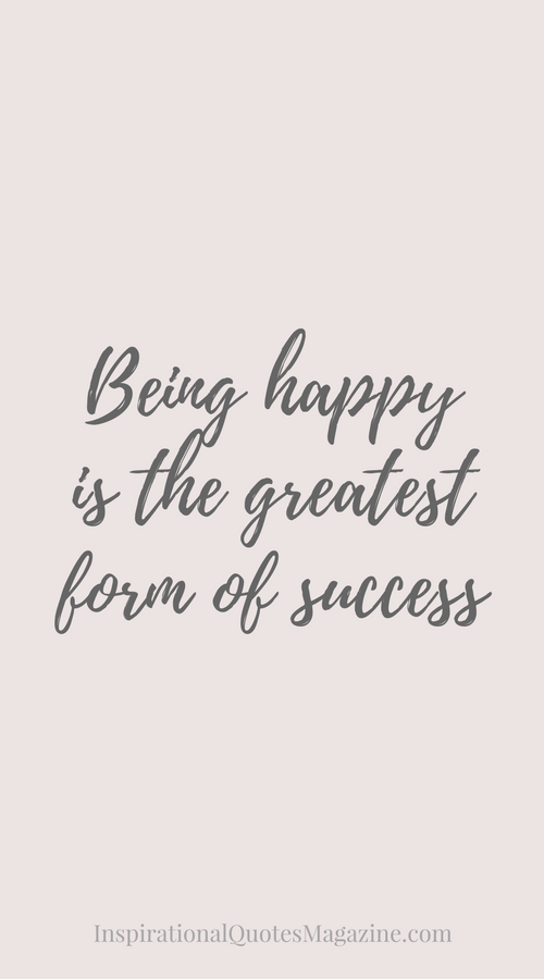 Inspirational Quote About Happiness And Success Visit Us At