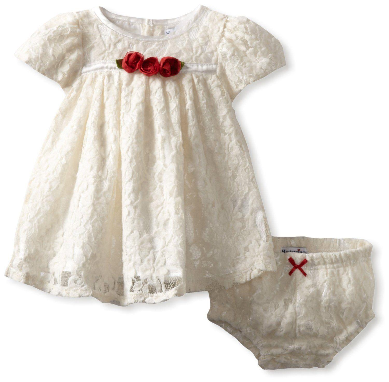 cea4b58c17698 newborn outfits | ... Baby-Girls Newborn Knit Lace Dress And Diaper ...