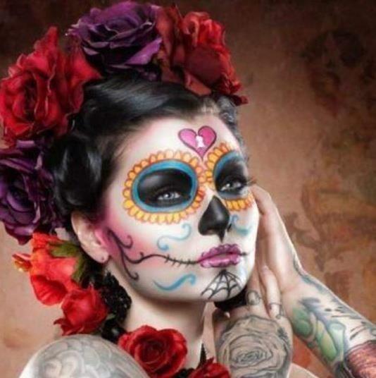 sugar skull 13 chicano maquillage halloween fete des morts mexique et la f te des morts. Black Bedroom Furniture Sets. Home Design Ideas