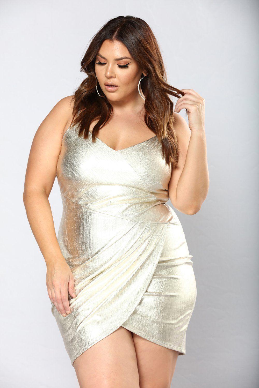 Crisandra Metallic Dress Gold Metallic dress, Dresses