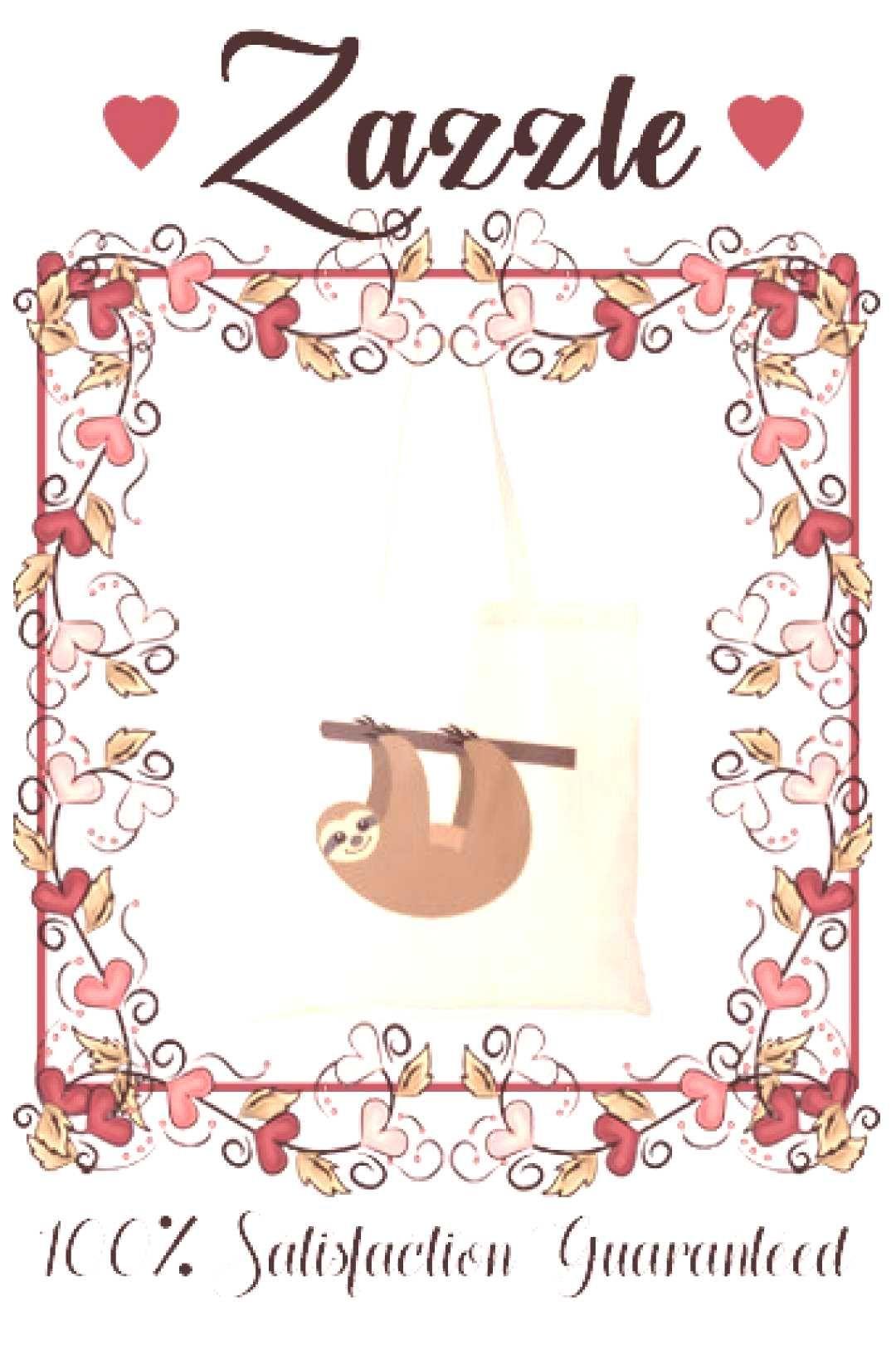 Cute Sloth Cartoon Tote BagY