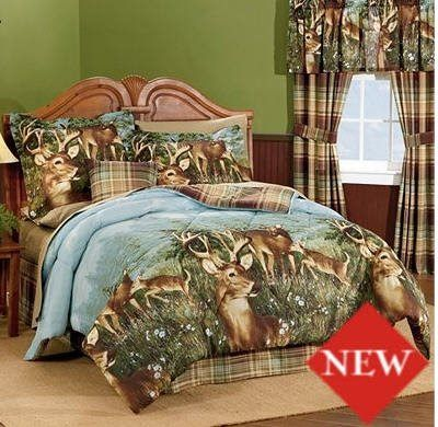 Total Fab Rustic Whitetail Deer Bedding And Curtains Comforter Sets Bed Full Comforter Sets
