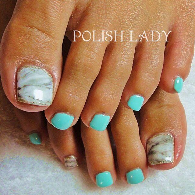 Blue Toe Nail Art Summer Toe Nails Toe Nails Toe Nail Art