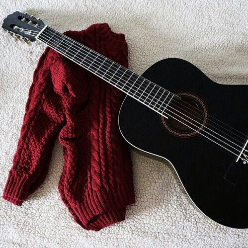 Guitar Photography Red Seasons Sweater