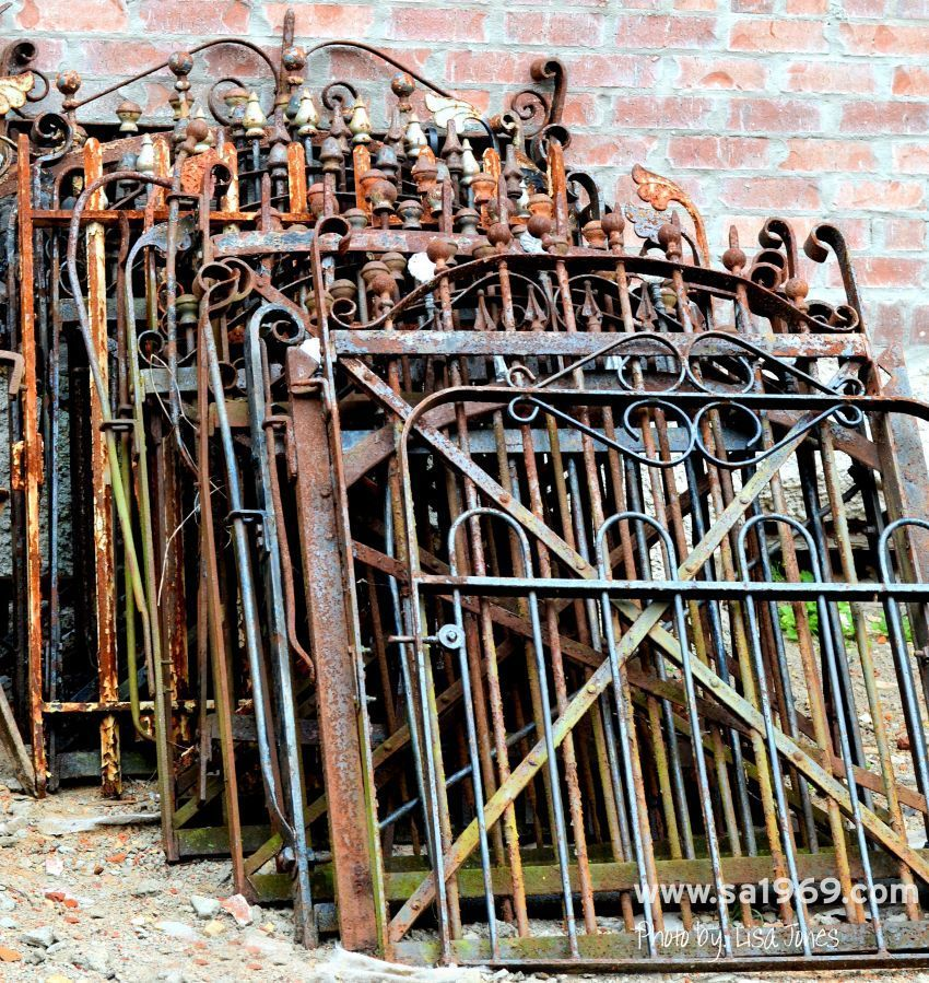 Gorgeous wrought iron gates, circa 1880\u0027s - Southern Accents