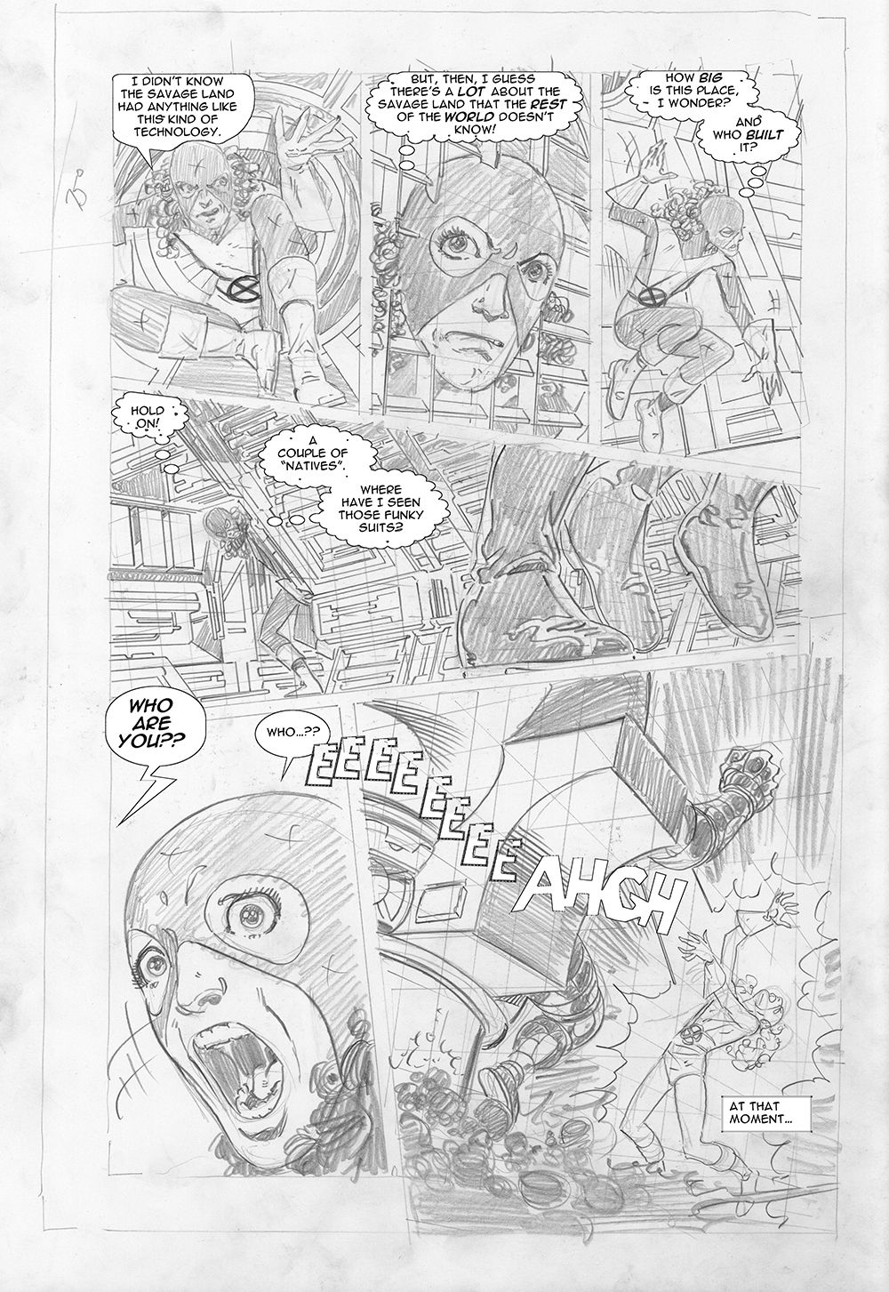 Byrne Robotics X Men Elsewhen In Sequence Comic Book Pages X Men Disney Art