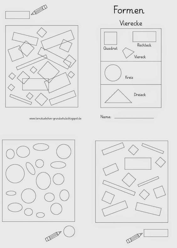 formen erkennen mathe klasse 1 formen mathe und kindergarten formen. Black Bedroom Furniture Sets. Home Design Ideas