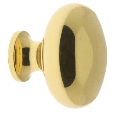 "idh by St. Simons Mushroom Knob Size: 1.13"" H x 1.25"" W x 1.19"" D, Finish: Polished Brass"