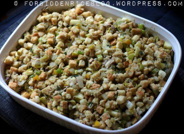 Vegetarian Shiitake Leek Stuffing « Forbidden Rice Blog