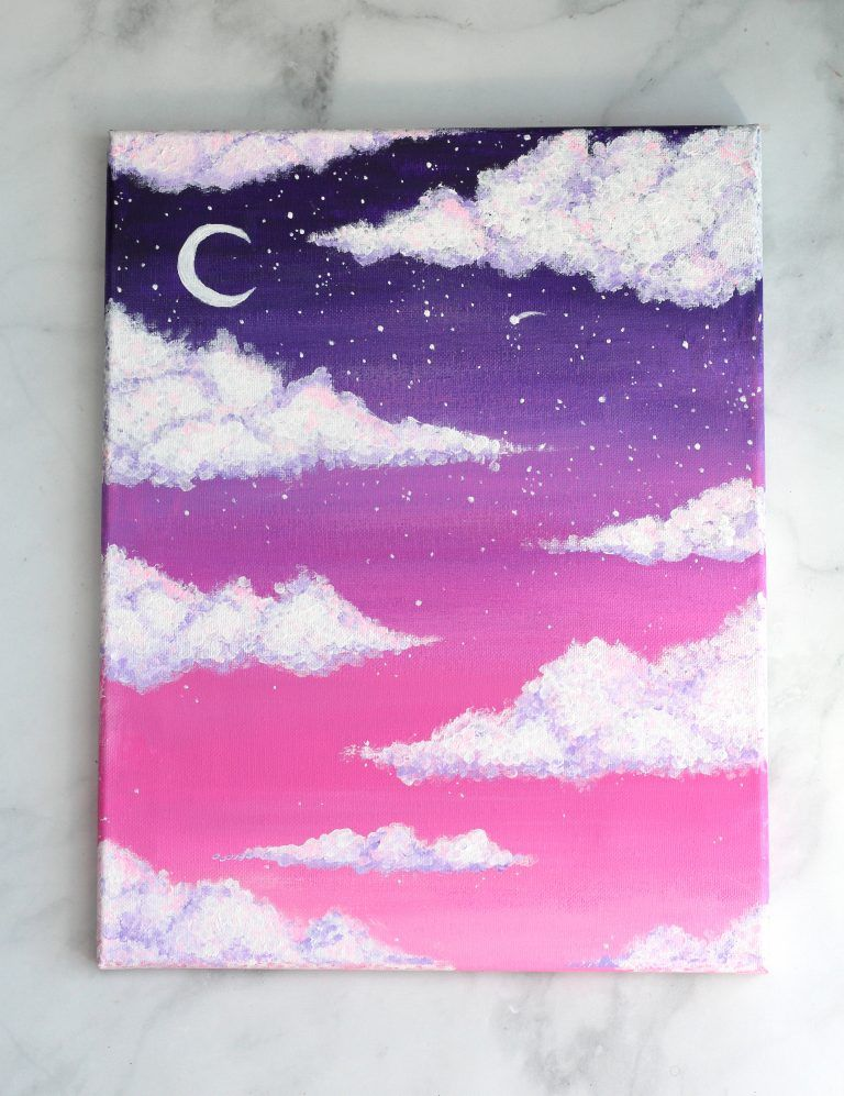 How To Paint Clouds With Acrylic Paint For Beginners (Easy)