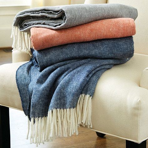 Classic Herringbone Throw Ballard Designs Herringbone